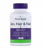 Natrol Skin Hair Nails w/Lutein 60 таб